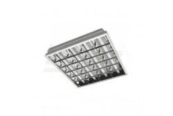 Armatúra LED fénycsőhöz, INNOVO,tükrös 4x60cm T8, G13, IP20,AC220-240V, 50/60Hz, fehér süllyeszt  GTV-IN-LE060JW-01  - Tükrös armatúra LED fénycsőhöz - Dupla parabola tükör - 4x9W (4xT8 60cm megfelelője) - Süllyesztett