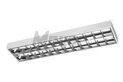 Armatúra LED fénycsőhöz, tükrös 2x120cm T8, G13, AC220-240V, 50/60Hz, IP20 INNOVO, fehér  GTV-IN-LE120JN-01  - Tükrös armatúra LED fénycsőhöz - Dupla parabola tükör