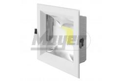 LED COB mélysugárzó négyzet 30W 160fok ALU keret - kifutó  GTV-LD-COB30K-40  - Teljesítmény: 30W - Süllyesztett kivitel - Színhőmérséklet: 4500K - Fényáram (lm): 2700 - Kifutó termék
