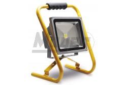 Hordozható LED reflektor, 50W, 6400K, 4200lm, hidegfehér, szürke ház - Kifutó  GTV-LD-FLT50W-64  - Teljesítmény: 50W - Színhőmérséklet: hideg fehér 6400K - Kifutó termék