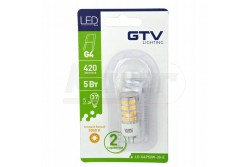 LED izzó G4  5W, 420lm, 4000K, 360° 12V DC  GTV-LD-G4P50W-40-E  LED izzó G4  5W, 420lm, 4000K, 360° 12V DC  Foglalat:G4  Teljesítmény:5W  Fényáram:420 lm  Színhőmérséklet:semlegesfehér 4000K  Sugárzási szög:360fok  Működési idő:40000h  Feszültség:12V/DC  Szilikon borítással