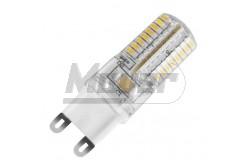 LED izzó G9  3W, 200lm, 4000K, szilikon bevonat - KIFUTÓ TERMÉK -  GTV-LD-G96430-45  LED izzó G9  3W, 200lm, 4000K, szilikon bevonat - KIFUTÓ TERMÉK - LED fényforrás Foglalat: G9 Teljesítmény: 3W Fényáram: 200lm Színhőmérséklet: 4000K LED-ek száma: 65 Méretek: 55×16mm Led típusa: SMD 3014 Feszültség: 230V/AC Sugárzási szög: 360fok Szilikon bevonattal KIFUTÓ TERMÉK