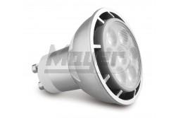 LED izzó GU10  7W, 3000K 630lm, POWER LED  - KIFUTÓ TERMÉK  GTV-LD-GU107W-30  LED izzó GU10  7W, 3000K 630lm, POWER LED  - KIFUTÓ TERMÉK LED fényforrás Foglalat: GU10 Teljesítmény: 7W Színhőmérséklet: melegfehér 3000K Fényáram: 630lm Feszültség: 230V  5db POWER LED fém ház Méret: 53×50mm KIFUTÓ TERMÉK