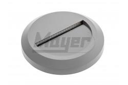 Lámpatest LED-es, SILVER, 2W, 100lm, 150mm, IP65, 120fok, ezüst, kerek  GTV-LD-OSSLOD2W-80