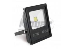 LED reflektor COB 30W meleg fehér 230V IP65 2500lm fekete ház-KIFUTÓ  GTV-LD-SFC30W-32  - Slim kivitel - Teljesítmény: 30W - Védettség: IP65 - Feszültség: 230V/AC - Sugárzási szög: 120fok - Kifutó termék! - Működési hőmérséklet: -40fok-tól +50fok-ig - Színhőmérséklet: 3200K