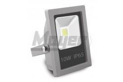 LED reflektor COB 10W meleg fehér 230V IP65 800lm szürke ház-KIFUTÓ  GTV-LD-SFS10W-32  - Slim kivitel - Teljesítmény: 10W - Védettség: IP65 - Feszültség: 230V/AC - Sugárzási szög: 120fok - Kifutó termék! - Működési hőmérséklet: -40fok-tól +50fok-ig - Színhőmérséklet: 3200K