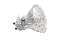 LED izzó GU10  4W, 4500K, 330lm, 120fok  GTV-LD-SZ1510-40  LED izzó GU10  4W, 4500K, 330lm, 120fok LED fényforrás Foglalat: GU10 Teljesítmény: 4W Fényáram: 330lm 43mA Feszültség: 230V/AC Színhőmérséklet: semlegesfehér 4000K sugárzási szög: 120fok Működési idő: 40000h Méretek: 58×58mm LED-ek száma:15 LED típusa: SMD2835