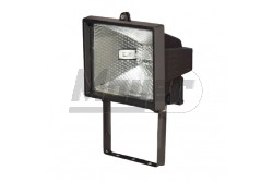 Halogén reflektor 150W IP44 fekete 230V  GTV-OH-OH0150-10  - IP44 - Foglalat: Rx7s - Teljesítmény: 150W - Feszültség. 230V AC - Színe: fekete
