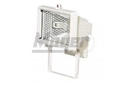 Halogén reflektor 500W IP44 fehér 230V  GTV-OH-OH5000-00  - IP44 - Foglalat:Rx7s, 118mm - Teljesítmény: 500W - Feszültség: 230V AC - Színe: fehér