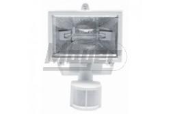 Halogén reflektor 500W + mozgásérzékelő 230V 180fok-os IP44 fehér  GTV-OH-OH50S0-00  - IP44 - Foglalat:Rx7s, 118mm - Teljesítmény: 500W - Feszültség: 230V AC - Színe: fehér