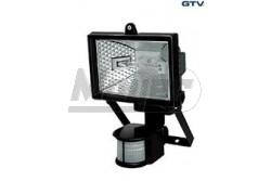 Halogén reflektor 500W + mozgásérzékelővel 230V 180fok-os IP44 fekete  GTV-OH-OH50S0-10  - IP44 - Foglalat:Rx7s, 118mm - Teljesítmény: 500W - Feszültség: 230V AC - Színe: fekete