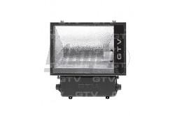 Fémhalogén fényvető  250W, E40 IP65 aszimmetrikus, fekete, alumínium  GTV-OH-OM250A-10  - Teljesítmény: 250W - IP65 - Feszültség: 230V AC - Foglalat: E40 - Színe: fekete