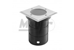 Járdába süllyeszthető lámpatest, ALFA, GU10, 50W, 11x11x12cm, IP67,inox, négyzet  GTV-ON-ALFAKGU10-06