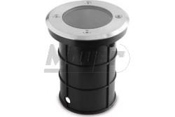 Járdába süllyeszthető lámpatest inox GU10 MINI IP67, 10x70cm, kerek  GTV-ON-ALFAOGU10-MINI  - Süllyeszthető lámpatest - Foglalat: Gu10 - Védettség: IP67 - Kerek