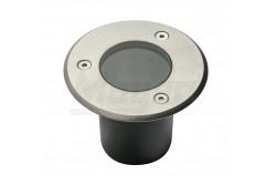 Járdába süllyeszthető lámpatest, ALFA MINI, GU10, 10W, 10x70cm, IP67, inox, kerek  GTV-ON-ALFAOGU10-MINI