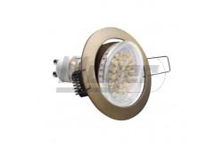 Süllyesztett SPOT lámpa billenthető PORTO-K, IP20, antik réz  GTV-OP-PRAN5-30  - Billenthető, ívelt széllel - Átmérő(mm): 82 - Feszültség: 12/230V - Teljesítmény(W): 50 - 75mm-es furatba - Mélység: 21mm - Színe: antik réz
