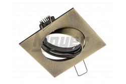 Süllyesztett lámpatest, PORTO-K, IP20, négyzet alakú, billentős, antik arany  GTV-OP-PRAN6-30