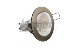 Süllyesztett SPOT lámpa fix PORTO, IP20, antik arany  GTV-OP-PROD3-30  Süllyesztett SPOT lámpa fix PORTO, IP20, antik arany Fix, ívelt széllel Átmérő: 75 mm Feszültség: 12/230V Teljesítmény: 50W IP védelem: IP20 60mm-es furatba Mélység: 22mm Színe: antik arany anyaga: alumínium kerek