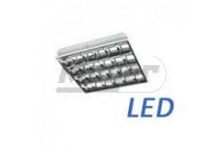 Armatúra LED fénycsőhöz, előtét NÉLKÜL, 4x60cm (4xT8) süllyesztett,IP20, 220-240V/AC, 50-60Hz  GTV-OS-LE060W-01