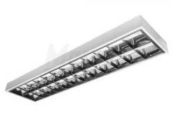 Armatúra tükrös LED fénycsőhöz, RASTRO LED,(2x150cm) T8, IP20, 140fok   GTV-OS-LE150NJ-01  Armatúra tükrös LED fénycsőhöz, RASTRO LED,(2x150cm) T8, IP20, 140fok  Armatúra tükrös LED fénycsőhöz Fénycső típus: T8 IP védelem: IP20 Sugárzási szög: 140fok Feszültség: 220-240V/AC 50-60Hz fehér színű anyag: acéllemez