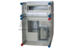 HB1012 1fázisú fogyasztármérő szekrény+12modul kismegzsakító szekrény 450x300x146mm HENSEL  HB1012