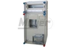 HB3012 3fázisú fogyasztásmérő szekrény 12modul kismegszakító szekrény N-PE kap.nélkül HENSEL  HB3012  12modul kismegszakító szekrény N-PE kap.nélkül  600x300x146