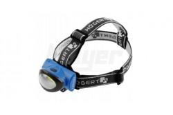 Fejlámpa, LED 3W, 6400K, 160lm, 10m, IP20, elem nélkül (3xAAA 1,5V)  HT1E420
