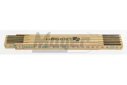 Fa mérőléc (colostok) 2m hosszú , 2,3 mm széles , 10 részre nyitható   HT4M262