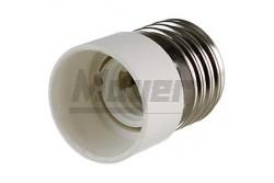 Átalakító foglalat E27-ről E14-re(25db/doboz)  JG-1343  - Foglalat átalakító - E27-ről E14-re - Színe: fehér
