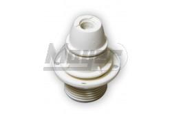 Csillárfoglalat műanyag+rögzítő gyűrű, mennyezetre rögzíthető, E14, 2A, 40W, fehér  JG-1394B-1376B  - Műanyag csillárfoglalat - Foglalat: E14 - Mennyezetre rögzíthető - Feszültség: 250V - Teljesítmény: max.: 40W - Színe: fehér