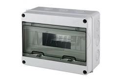 Ipari doboz üres 6-12M, átlátszó ajtóval, IP65, 225x200x110mm  JG-3519  - Üres ipari doboz - Modul száma: 6-12 - IP65 - Mérete: 225x200x110mm
