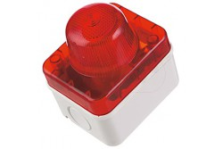 Vészjelző, IP54, piros, E14, 10W, falon kívüli  JG-460R  - Vészjelző - Piros lámpa - Falon kívüli - Foglalat: E14 - Teljesítmény: 10W -Védettség: IP54