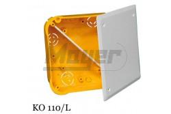 Gipszkarton doboz 100x100 fedéllel KO110/L   KK-KO110L