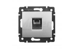 Valena 1xRJ11-4p aljzat alumínium telefon csatlakozóaljzat  L-770138