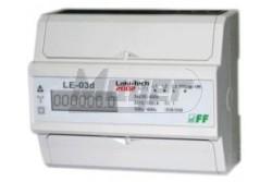 Fogyasztásmérő 3 fázis 3x10(100)A almérő digitális sínre,7modul F&F LE-03D  MY-9905D