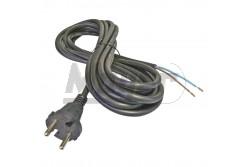 Szerelt vezeték+földelt dugvilla 2x1,5 3m H05RR-F gumikábellel  MY-FLX0025