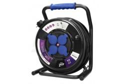 Kábeldob 40fm-es IP44 3x2,5mm2 H07RN-F gumikábellel, 4 aljzat 3200W / 1100W Hőkioldóval  OR-AE-13157(GS)/40M