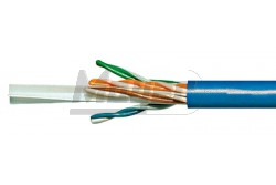 UTP CAT6.E SCHRACK kék 500fm/dobSchrack U/UTP Cat6e 4X2XAWG23 kék  SCHR-HSEKU423P1