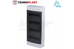 Falon kívüli kiselosztó doboz, C sorozat, 48modulos,átlátszó ajtó-4soros,287x651x112mm,IP40  THP-N48C