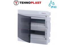 Süllyesztett kiselosztó doboz, C sorozat, 36 modulos,átlátszó ajtó-2soros,396x357x70mm,IP40  THP-U2x18C