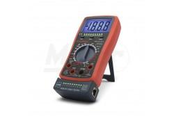 Digítális multiméter  GL-25331  2 az 1-ben műszer, általános multiméter funkciókkal, kábeltesztelő egységgel kiegészítve. A kontroll egység levehető és szabadon hordozható. RJ11, RJ12, RJ45 és USB vezetékek teszteléséhez alkalmazható.   -Dióda teszt  -Folytonossági teszt  -Adattartás  -Hangjelzés  -Háttérvilágítás  -Kábelteszt funkció (USB, RJ11, RJ12, RJ45)  -Tartozék: műszerzsinór, elem (1 x 9V IEC 6F22)  Kijelző: 3 1 digites DC V: 0,1 mV - 600 V AC V: 1 mV - 600 V DC A: 0,1 µA - 10 A AC A: 100 µA - 10 A Ellenállás: 0.1 ? - 20 M? Méret: 200 x 85 x 35 mm