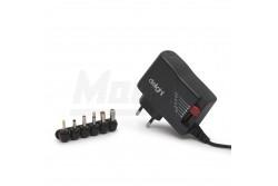 Adapter 2500mA 3-12V, 30W - 6 DC dugó 2,5A  GL-55056C  Adapter 2500mA 3-12V, 30W - 6 DC dugó 2,5A Kábel hossza:120 cm Bemeneti feszültség:AC 110 - 240 V Frekvencia:50 - 60 Hz Kimeneti feszültség:DC 3 V • 4.5 V • 5 V • 6 V • 9 V • 12 V Kimeneti áramerősség:2500 mA Teljesítmény:30 W Működési hőmérséklet:0°C - 40°C Relatív páratartalom:20% - 80%