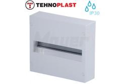 Falon kívüli kiselosztó doboz, A sorozat,12modulos,ajtó nélkül-1soros,250x224x70mm,IP30  THP-N12A
