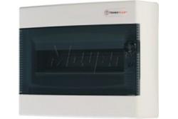Falon kívüli kiselosztó doboz, C sorozat,12modulos,átlátszó ajtó-1soros,287x236x112mm,IP40  THP-N12C