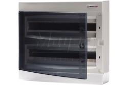 Falon kívüli kiselosztó doboz, C sorozat, 36modulos,átlátszó ajtó-2soros,396x361x112mm,IP40  THP-N2x18C
