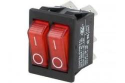 Billenő kapcsoló 2 állású OFF-ON; 16A/250VAC; piros AE-C5503  TM-AE-C5503